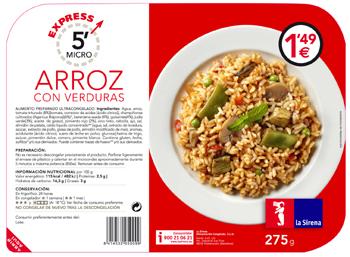 El arroz con verduras más rápido del mercado :)