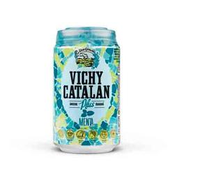 Los nuevos Vichy Catalán Plus Lima-Limón y Menta, con vitaminas B6, B12, ginseng y guaraná (en lata de 33 cl.)